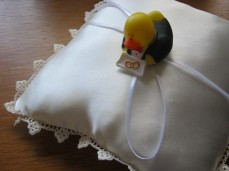 And the ring barer pillow, complete with duck, baring rings