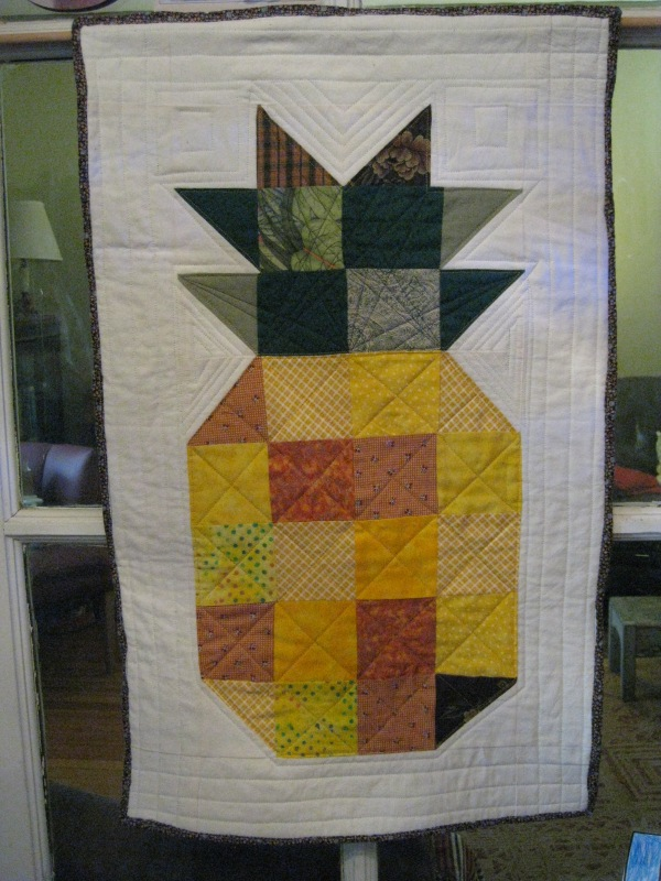 Pineapple Wall Hanging, finished 2-9-13