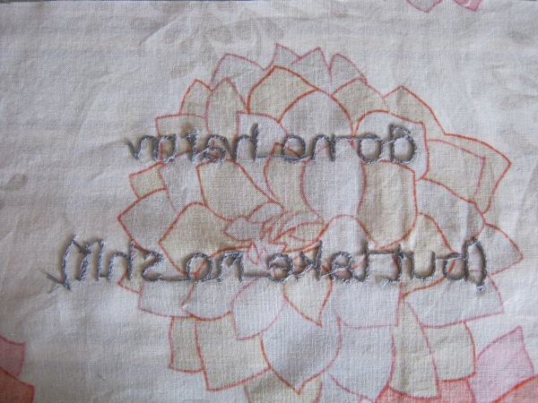 I love the back sides of embroidery, it's like an alien language