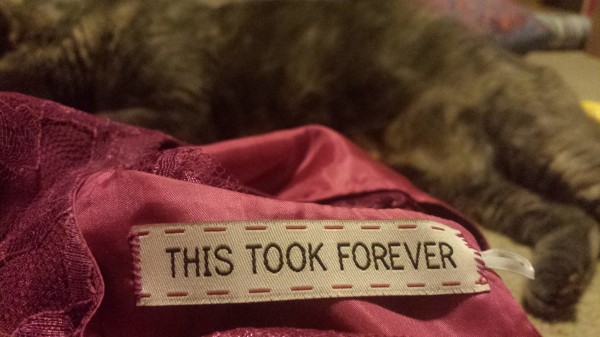 I also added this tag in the back, to make sure she know how much I love her...