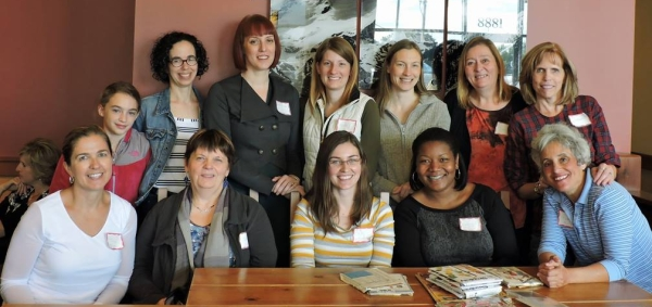 Top row: Wendy's daughter Abby (?), Wendy, Hillary, Michelle, Joy, Deborah, and Doreen Bottom row: Tina, Sheila, Me, Nakisha, and Kathy