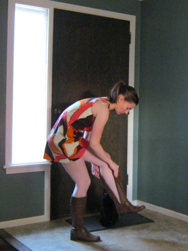 This is not a dress length meant for bending over!