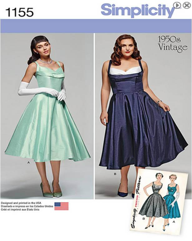 Pattern Showdown: Vintage Dress Edition | Toferet\'s Empty Bobbin