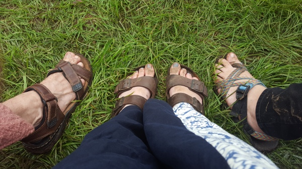 It probably doesn't entirely show it, but our feet were super muddy by the end